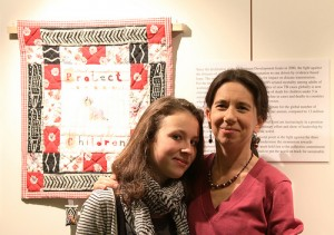 Quilter Corinne Beque and her daughter